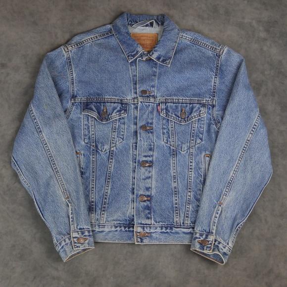Vintage Levi's Trucker Jacket Size Small Blue Deni